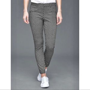 Gap Skinny Ankle Stretch White diamond print pant